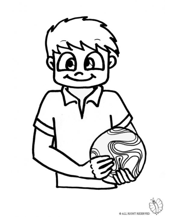 Disegno bambino con pallone disegni da colorare e for Pesciolini da colorare e stampare