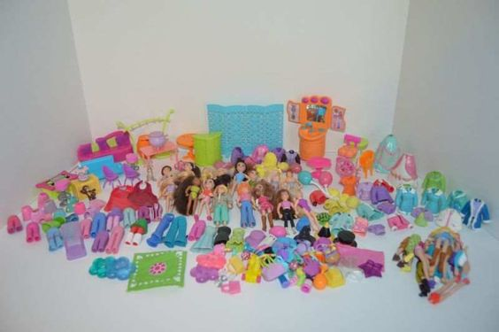 Polly Pocket doll lot dolls accessories hats clothing misc parts toys girls #Mattel #DollswithClothingAccessories
