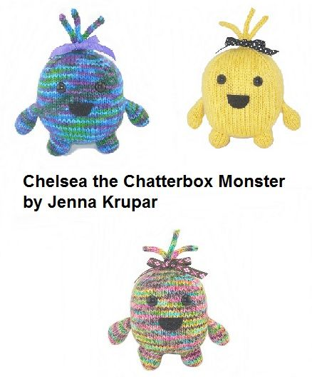 Chelsea the Chatterbox Monster-$6.00 USD  www.ravelry.com/patterns/library/chelsea-the-chatterbox-monster
