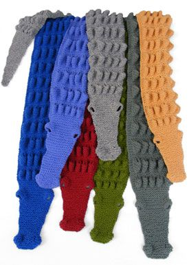 Alligator scarves Knitting Patterns - Babies and Children Pinterest Awe...