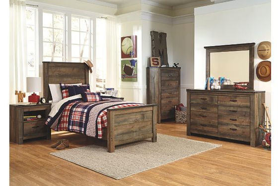 Brown Trinell Twin Panel Bed View 3
