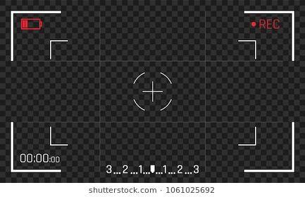 Camera Rec Frame Viewfinder Vector Video Recorder Screen Display Camera Illustration Frame Logo Black Aesthetic Wallpaper