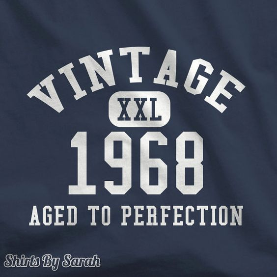 Personalized Shirt - Made In Year T-Shirt Vintage Aged To Perfection Mens Womens Custom Birth Tee