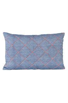 Cuscino<BR>50 x 30 cm - Blu e Arancione