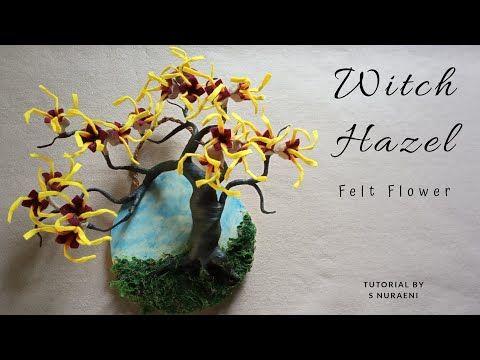 Witch Hazel Felt Flower Tutorial Bunga Witch Hazel Dari Kain