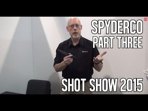 ▶ Spyderco - Shot Show 2015 - Aqua Salt Knife - YouTube