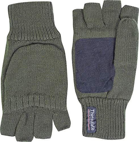 MENS SHOOTER MITTS 100/% ACRYLIC ARMY GLOVES MITTENS SHOOTING HUNTING