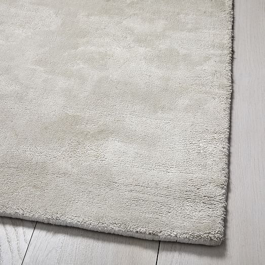 Lucent Rug Frost Gray 9 X12 West Elm In 2020 Rugs Solid Color Rug Viscose Rug