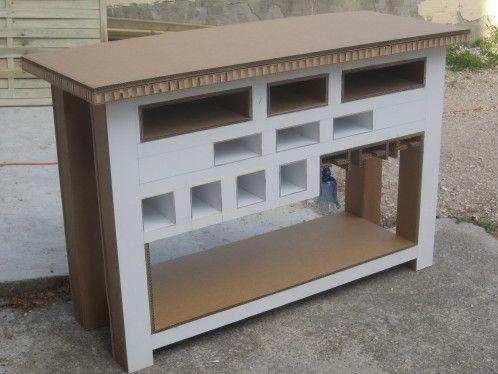 L'avancée de la table console pour cuisine tout en carton - meubles en carton marie krtonne