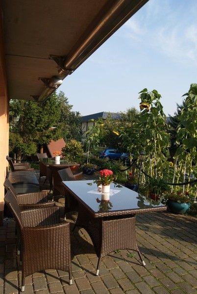 Terrasse zum Entspannen in der Pension Waldeck