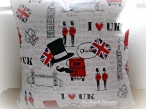 Cheerio UK embroidered pillow cover