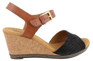 Women's Clarks, Helio Jet High Heel Wedge Sandals