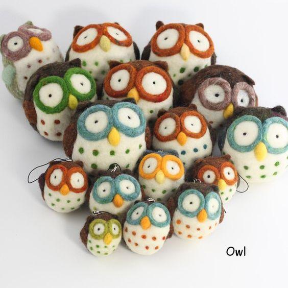 Nadel-filzen von Owl-kit