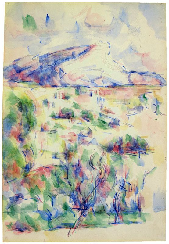 Paul Cezanne Montagne Sainte Victoire Seen From Les Lauves