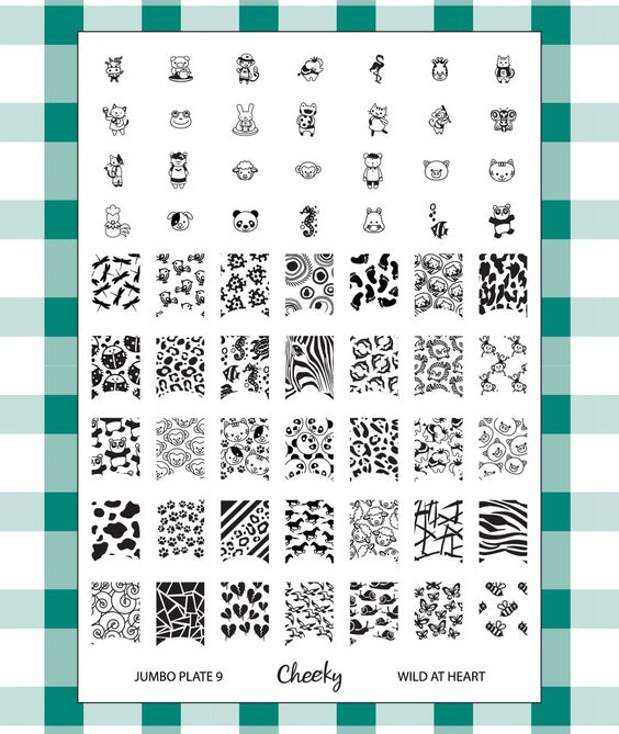 "Cheeky - Cheeky New 2013 Collection of Jumbo Nailart Polish Stamp Stamping Manicure Image Plates Accessories Set Kit. Nail Art Jumbo Image Plate 9- ""Wild At Heart"" , $11.00 (http://www.cheeky-beauty.com/cheeky-new-2013-collection-of-jumbo-nailart-polish-stamp-stamping-manicure-image-plates-accessories-set-kit-nail-art-jumbo-image-plate-9-wild-at-heart/)"