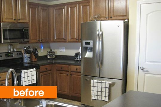 Before & After: Transforming a Dark Kitchen with a DIY Cabinet Makeover KitThrifty Inspirations