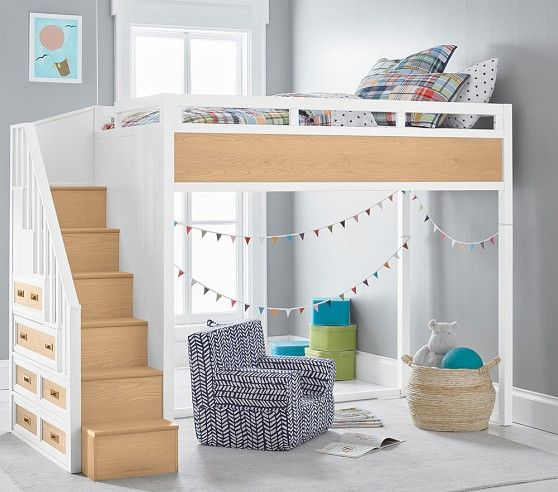 Drew Stair Loft Bed Loft Bed Kids Loft Beds Bedroom Furnishings