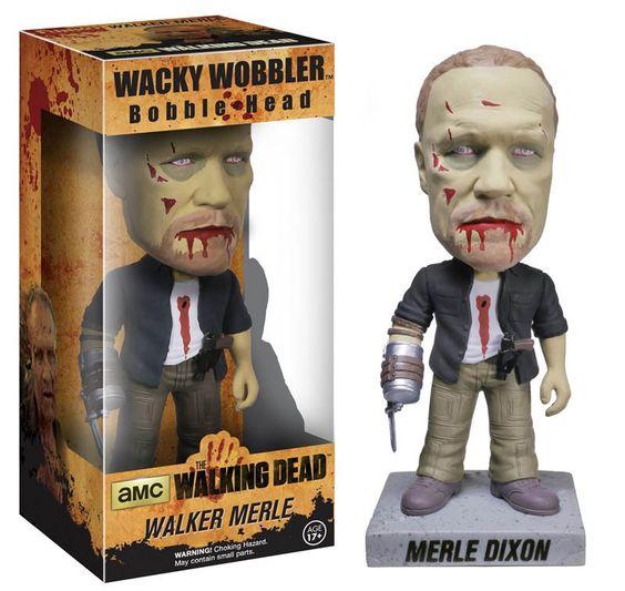 Cabezón Merle Dixon zombie 18 cm. Línea Wacky Wobblers. The Walkind Dead. Funko Divertido y original cabezón del protagonista Merle Dixon de 18 cm como zombie, de la línea Wacky Wobblers, fabricado en material de vinilo y por supuesto 100% oficial y licenciado. Ideal para regalar.