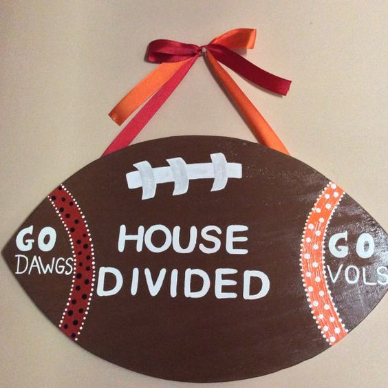 Hey, I found this really awesome Etsy listing at https://www.etsy.com/listing/177686817/house-divided-football-sign