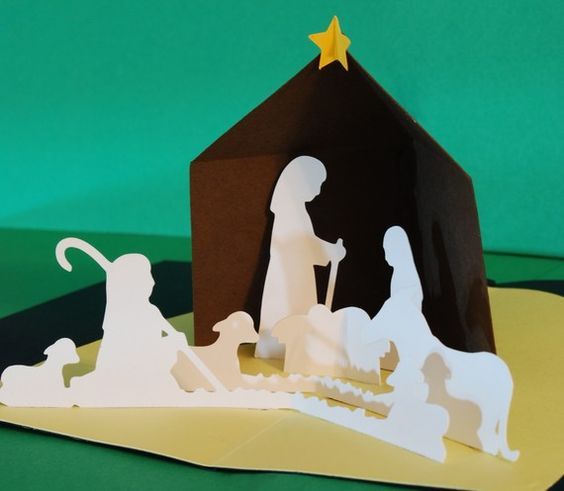 For My Nativity Collection Christmas Cards Kids Christmas Cards Handmade Simple Christmas Cards