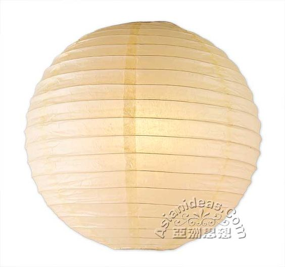 4 Inches Ivory Paper Lanterns (Set of 10) for $7.00