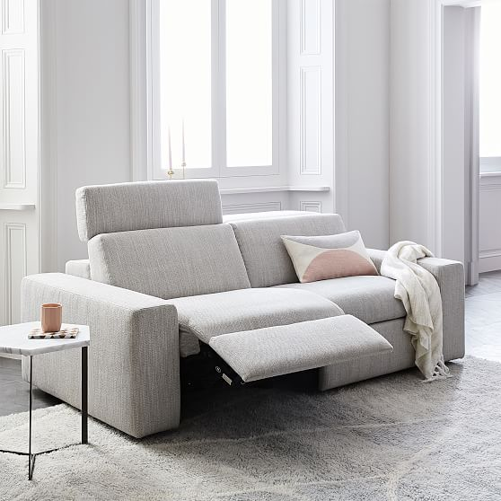 Enzo Reclining Sofa Set 25 Basket Slub Feather Gray Furniture Sofa Furniture Reclining Sofa