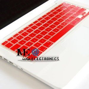 mac silicon keyboard cover in red. WHAT WHAT LIL DUCK.