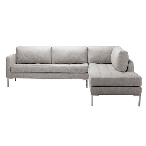 Paramount Right Sectional Sofa - Pebble  Blu Dot: Grey Couch, Decor Ideas, Living Rooms, Beach Houses, Sectional Sofas, Paramount Sofa