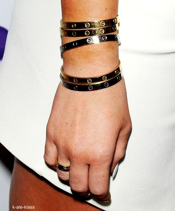 Kylie Jenner Cartier bracelets at Sugar Factory Hollywood Lunch Party 11.13.2013