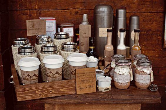 bar à boissons chaudes (thé, tisane, café, chocolat)