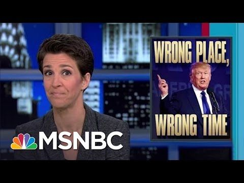 Provocateur Donald Trump Speaks At Hate Crime Site | Rachel Maddow | MSNBC - YouTube