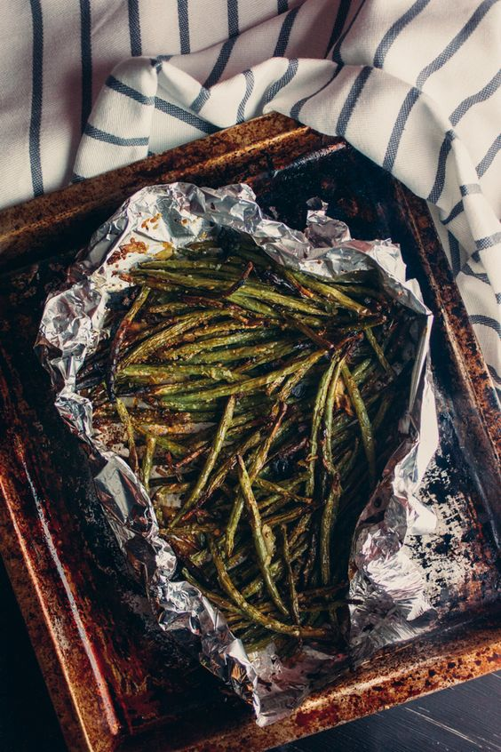 Garlicky Green Beans (Toaster Oven) Recipe. The perfect healthy, easy vegetable recipe!
