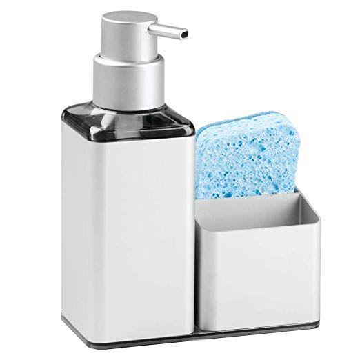 14 99 Amazon Com Mdesign Modern Aluminum Kitchen Sink Countertop Liquid Hand Soap Dispenser Pump Bo Soap Dispenser Soap Pump Dispenser Kitchen Soap Dispenser