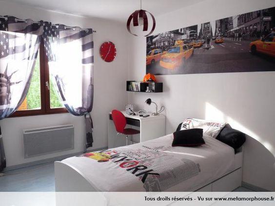 photos dcoration de chambre dado international new yorkais blanc gris de mag62 - Modele De Chambregarcon Ado Blanc Et Gris