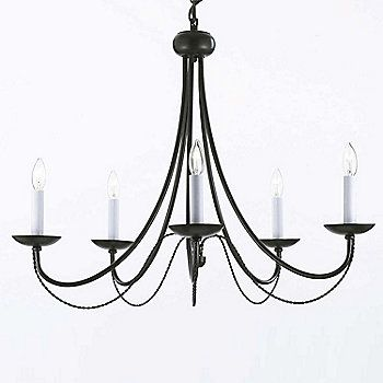 """Gallery 22.5"""" Versailles Collection Wrought Iron Chandelier"""