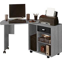 Mesa para Computador Flex 1 Gaveta Cinza/Preto - Artely