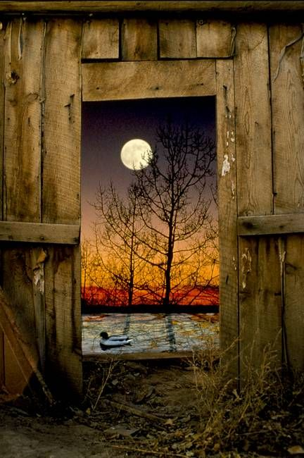 Full Moon Barn door by Sandy Ostroff