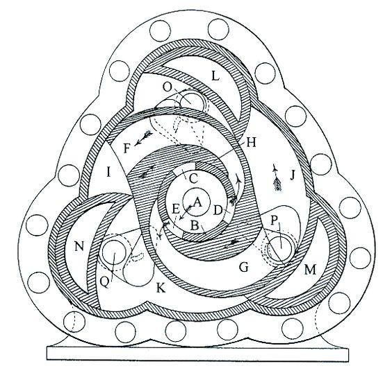 webb rotary engine  1853