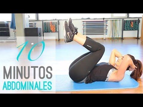 Rutina de ejercicios. 10 minutos de abdominales