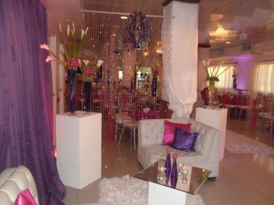 boda rosado fucsia con morado Realizada por D´Karla buffet y Decoraciones