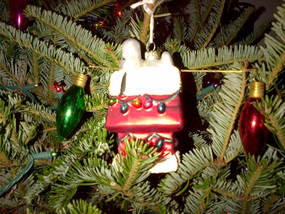 My Christmas tree must have Jessie's ornament. He is a west, not a beagle, but I call him Snoopy. -Mari