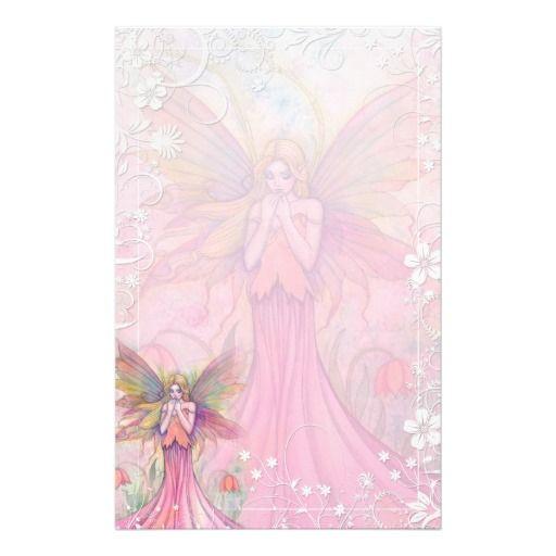 Fancy Flower Fairy Stationery by Molly Harrison - #pink #stationery #paper #zazzle