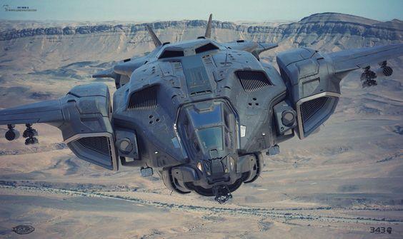 Spaceship by Reno Lonewolf Levi and Cki Vang. (via Reno Lonewolf Levi)  More space ship here.