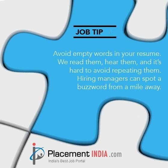 Avoid empty words in your resume #jobtips #JobTipTuesday - words to avoid in resume