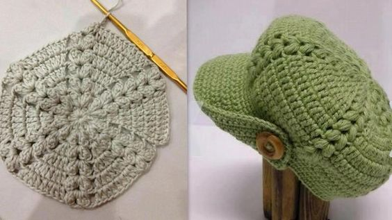 Scorzo Tricroche: Gráfico de toucas e boina de crochê: