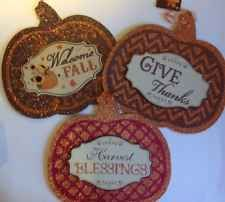 "11"" X 11.75"" Fall/Thanksgiving Pumpkin Sign 3 Different U Pick"