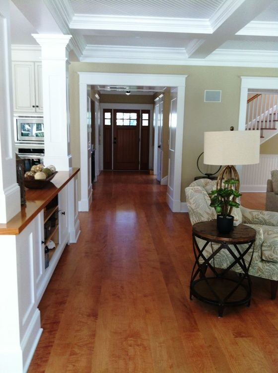 White Kitchen Maple Floors a great way to warm up a white kitchen, the warm reddish brown hue