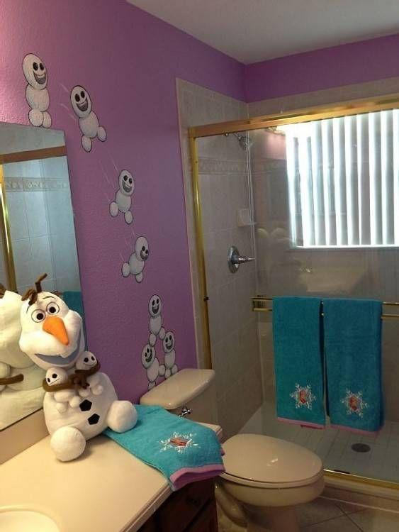 Frozen Bathroom Ideas Girl Bathrooms Frozen Themed Bedroom