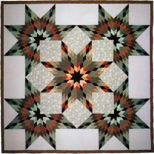 Unfolding Stars designed and made by Judy Martin, 1987. Pattern is in her book, Shining Star Quilts.