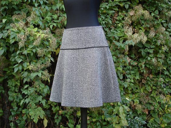 Woll-Rock in dreierlei Grau von Ilona Chic auf DaWanda.com